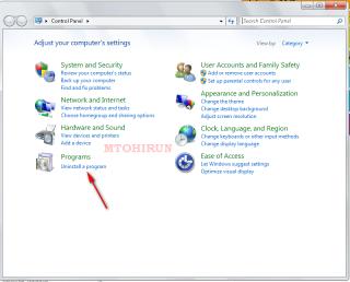 Cara Uninstall/menghapus Aplikasi pada windows 7